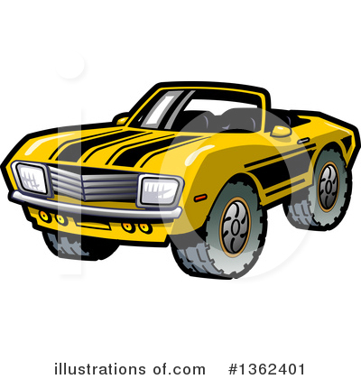 Muscle Car Clipart #1362401 by Clip Art Mascots