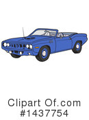Muscle Car Clipart #1437754 by LaffToon