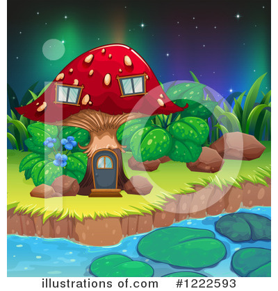 Northern Lights Clipart #1222593 by Graphics RF