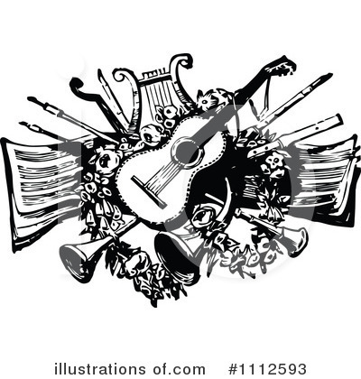 Royalty-Free (RF) Music Clipart Illustration by Prawny Vintage - Stock Sample #1112593