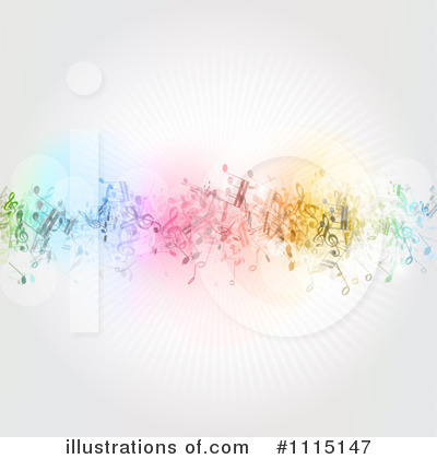 Music Notes Clipart #1115147 by KJ Pargeter