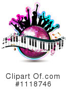 Royalty-Free (RF) music Clipart Illustration #1118746
