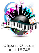 Royalty-Free (RF) music Clipart Illustration #1118748