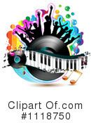 Royalty-Free (RF) music Clipart Illustration #1118750