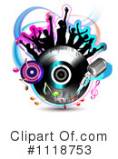 Royalty-Free (RF) Music Clipart Illustration #1118753