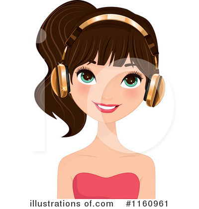 Headphones Clipart #1160961 by Melisende Vector