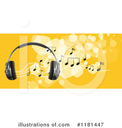 Headphones Clipart #1181447 by Graphics RF