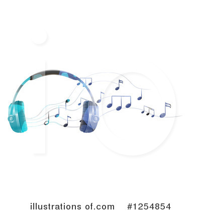Headphones Clipart #1254854 by Graphics RF