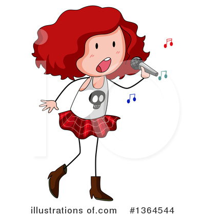 Singing Clipart #1364544 by Graphics RF