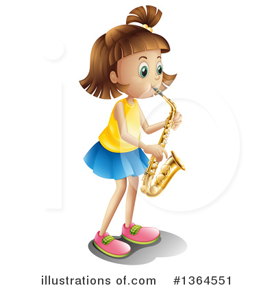 Saxophone Clipart #1364551 by Graphics RF