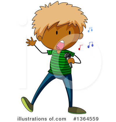 Singing Clipart #1364559 by Graphics RF