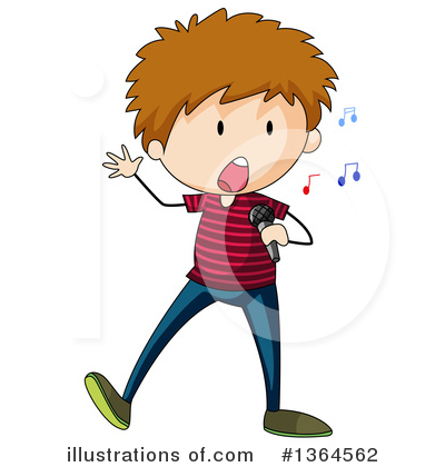 Singing Clipart #1364562 by Graphics RF