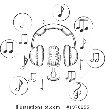 Microphone Clipart #1376255 by Vector Tradition SM