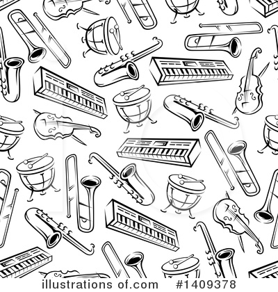 Violin Clipart #1409378 by Vector Tradition SM