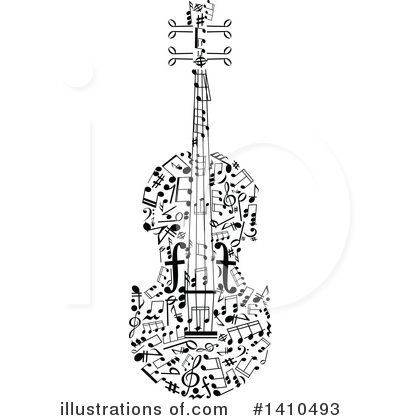Violin Clipart #1410493 by Vector Tradition SM