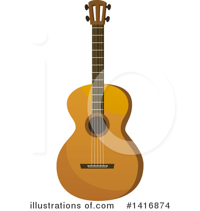 Guitar Clipart #1416874 by Vector Tradition SM