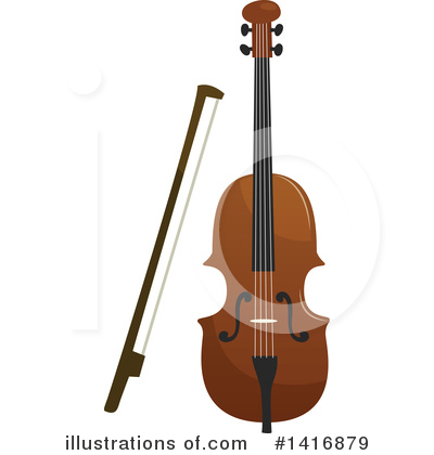 Violin Clipart #1416879 by Vector Tradition SM