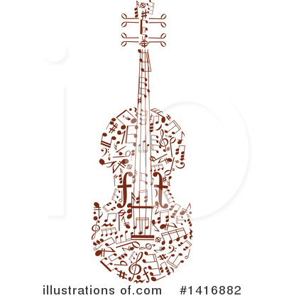 Violin Clipart #1416882 by Vector Tradition SM