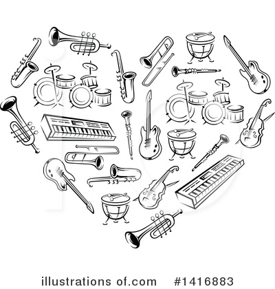 Violin Clipart #1416883 by Vector Tradition SM