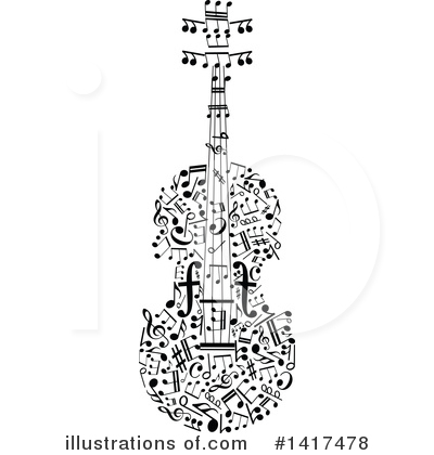 Violin Clipart #1417478 by Vector Tradition SM