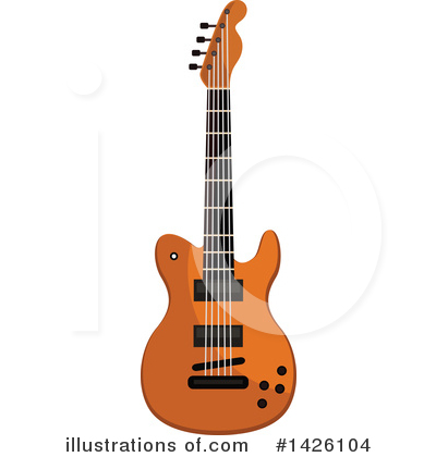 Guitar Clipart #1426104 by Vector Tradition SM