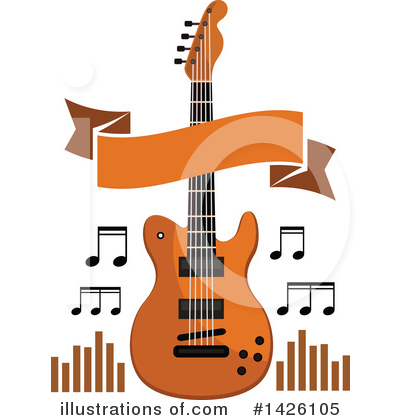 Guitar Clipart #1426105 by Vector Tradition SM