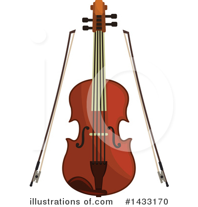 Violin Clipart #1433170 by Vector Tradition SM
