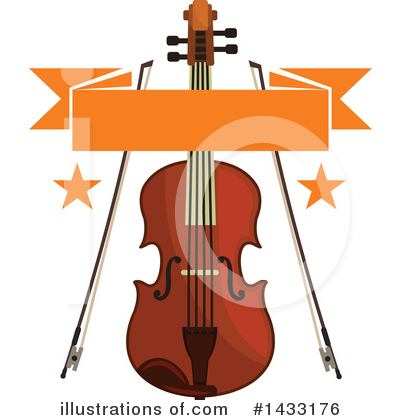 Violin Clipart #1433176 by Vector Tradition SM