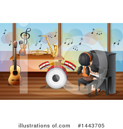 Saxophone Clipart #1443705 by Graphics RF
