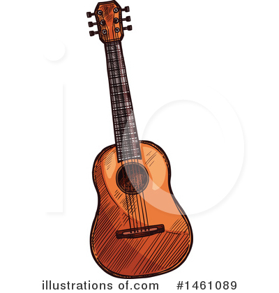 Guitar Clipart #1461089 by Vector Tradition SM