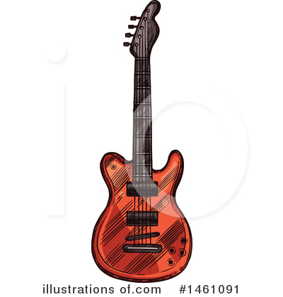 Guitar Clipart #1461091 by Vector Tradition SM