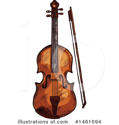 Violin Clipart #1461094 by Vector Tradition SM