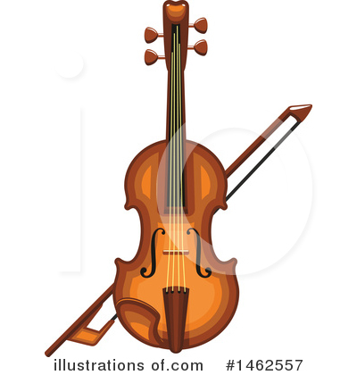 Violin Clipart #1462557 by Vector Tradition SM