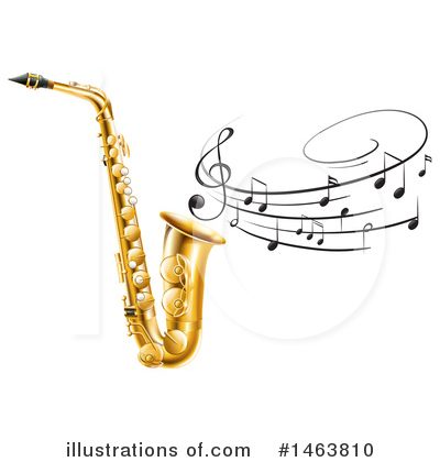 Saxophone Clipart #1463810 by Graphics RF