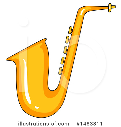 Saxophone Clipart #1463811 by Graphics RF