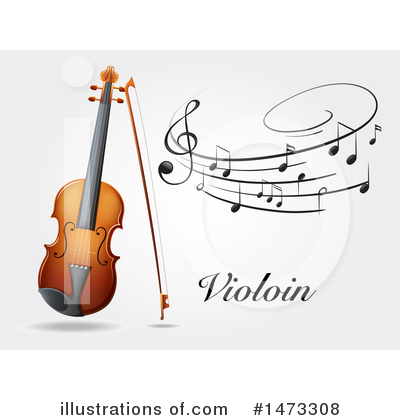Violin Clipart #1473308 by Graphics RF