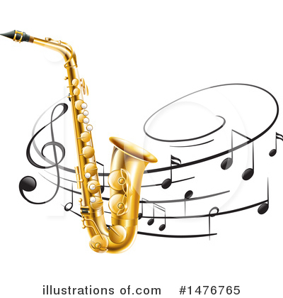 Saxophone Clipart #1476765 by Graphics RF