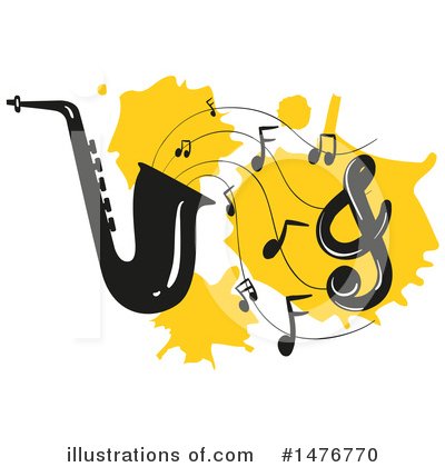 Saxophone Clipart #1476770 by Graphics RF