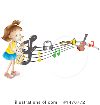 Saxophone Clipart #1476772 by Graphics RF