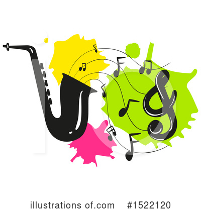 Saxophone Clipart #1522120 by Graphics RF