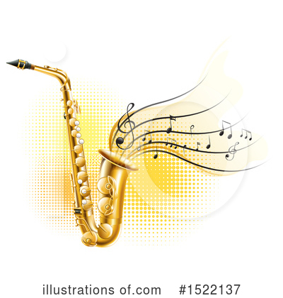 Saxophone Clipart #1522137 by Graphics RF