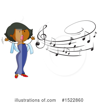 Singing Clipart #1522860 by Graphics RF