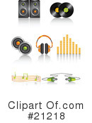Royalty-Free (RF) music Clipart Illustration #21218
