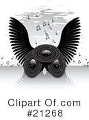 Royalty-Free (RF) music Clipart Illustration #21268