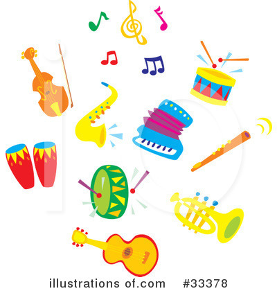Music Clipart #33378 by Alex Bannykh
