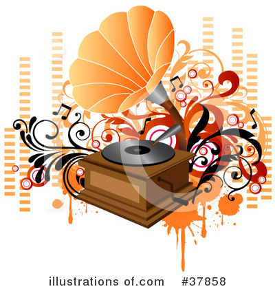 Record Player Clipart #37858 by OnFocusMedia