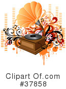 Royalty-Free (RF) Music Clipart Illustration #37858