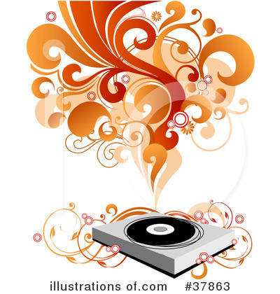 Record Player Clipart #37863 by OnFocusMedia