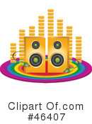 Royalty-Free (RF) music Clipart Illustration #46407