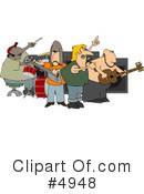 Royalty-Free (RF) Music Clipart Illustration #4948